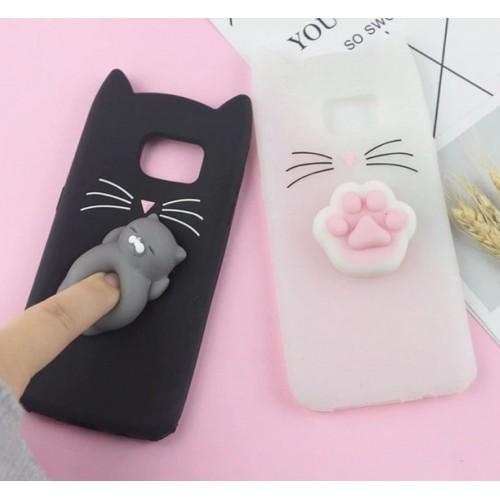 Custodia Cover orecchie gatto per Samsung Galaxy S4 S5 S6 S7 S8 S9 note 3 4 5 8