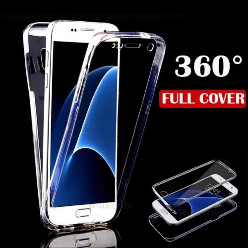 Custodia Cover silicon protezione 360° per Samsung Galaxy A3 A5 A6 A7 A8 A9 2018