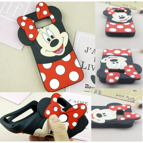 Custodia Cover silicone 3D antiurto minnie cartoni per Samsung S10 S10E Plus
