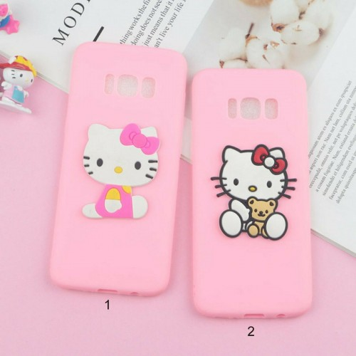 Custodia Cover silicone 3D hello kitty gatto antiurto per Samsung S10 S10E Plus