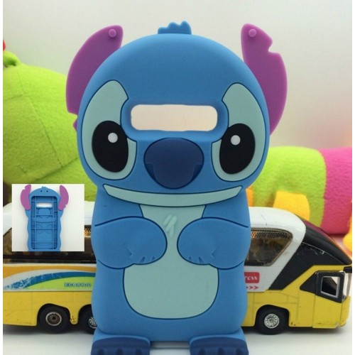 Custodia Cover silicone 3D lilo stitch cartoni per Samsung Galaxy Note 3 4 5 8