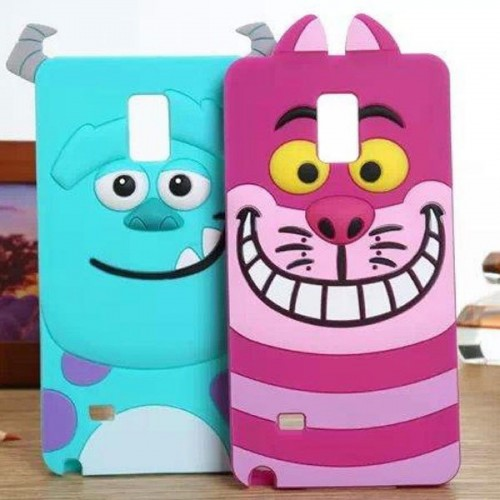 Custodia Cover silicone 3D sulley cat cartoni per Samsung Galaxy Note 3 4 5