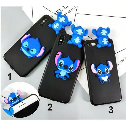 Custodia Cover silicone anello stitch per Samsung Galaxy A10 A30 A40 A50 A70
