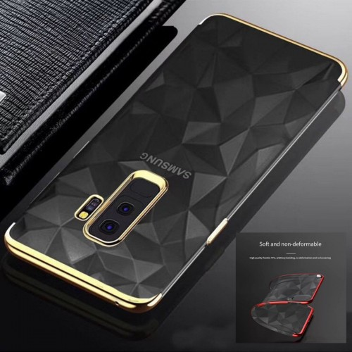 Custodia Cover silicone antiurto diamante cromato per Samsung Galaxy note 8 9