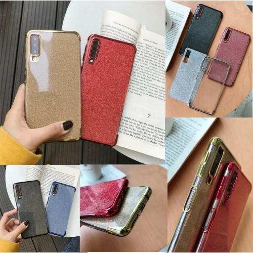 Custodia Cover silicone antiurto glitter per Samsung Galaxy A10 A30 A40S A50 A70