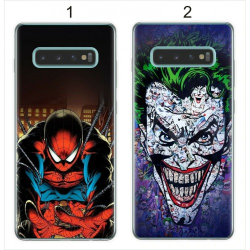 Custodia Cover silicone antiurto joker spider man per Samsung S10 S10E S10 Plus