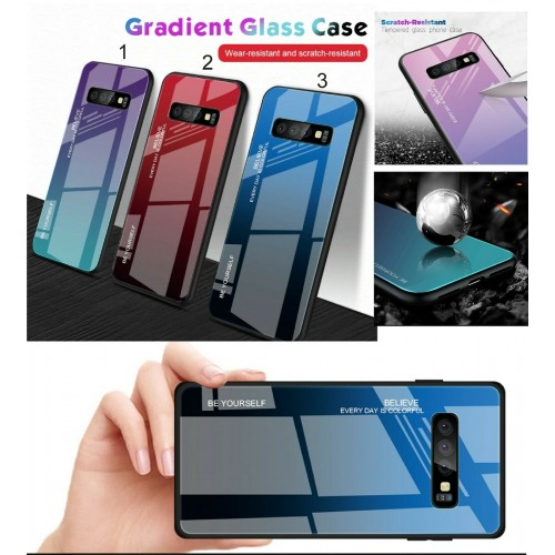 Custodia Cover silicone antiurto retro in vetro per Samsung S8 S9 S10 S10E Plus