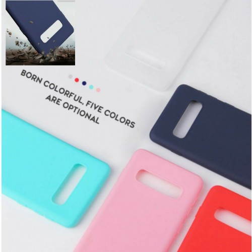 Custodia Cover silicone bordo antiurto parawebcam per Samsung S10 S10E S10 Plus