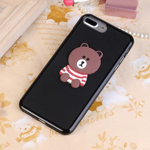 Custodia Cover silicone cartoni orsetto teddy per Samsung Galaxy note 4 5 8 9