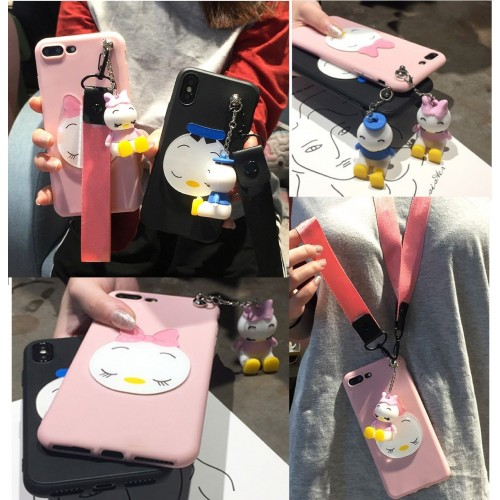 Custodia Cover silicone duck 3D per Samsung Galaxy A3 A5 A7 A6 A8 A9 star lite