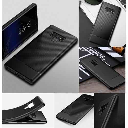 Custodia Cover silicone fibra di carbonio antiurto per Samsung Galaxy Note 8 9