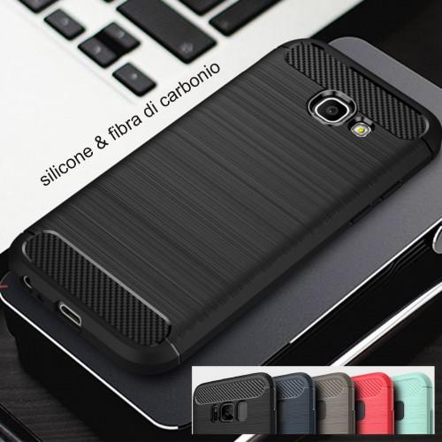 Custodia Cover silicone fibra per Samsung Galaxy J3 J327 J5 J527 J7 J727 2017 US