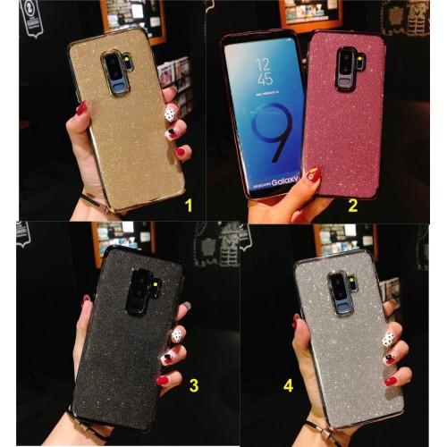 Custodia Cover silicone glitter bling per Samsung Galaxy A3 A5 A6 A7 A8 A9 star