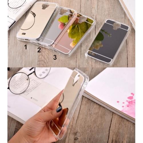 Custodia Cover silicone mirror per Samsung Galaxy A3 A5 A6 A7 A8 2016 2017 2018