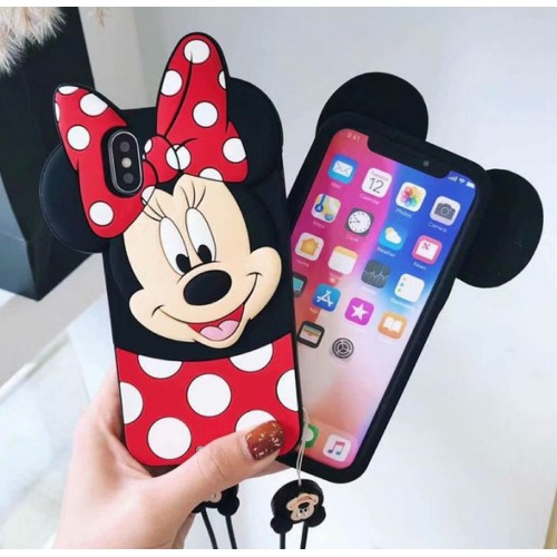 Custodia Cover silicone morbido minnie cartoni per Samsung Galaxy note 3 4 5 8