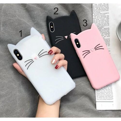 Custodia Cover silicone orecchie gatto per Samsung Galaxy A6 A7 A8 A9 star 2018