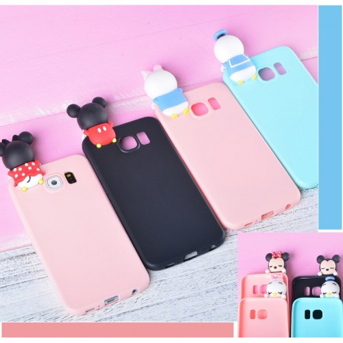 Custodia Cover silicone soft 3d minnie mickey per Samsung Galaxy note 3 4 5 8