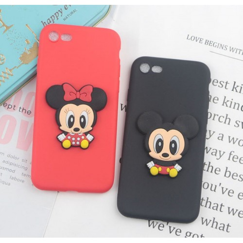 Custodia Cover silicone soft 3d minnie mickey per Samsung Galaxy note 3 4 5 8 9