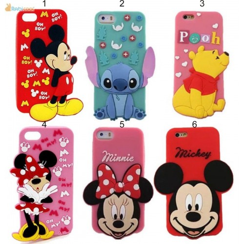 Custodia Cover silicone soft 3d minnie stitch cat per Samsung Galaxy note 3 4 5