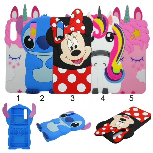 Custodia Cover silicone soft unicorno stitch minnie per Samsung Galaxy A50 2019