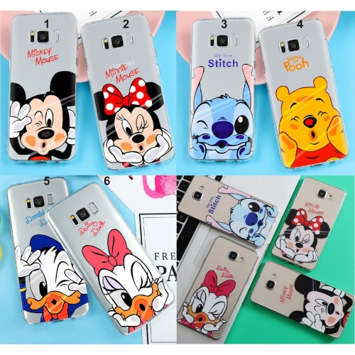 Custodia Cover stitch minnie Samsung Galaxy S3 S4 S5 S6 S7 A3 A5 A7 A8 J3 J5 J7