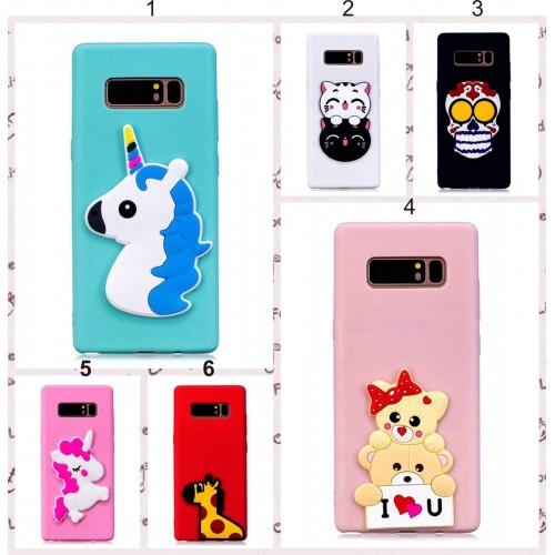 Custodia Cover unicorno orso per Samsung Galaxy S6 S7 S8 note8 A3 A5 A7 J3 J5 J7