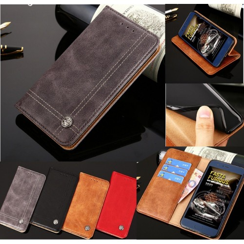 Custodia Flip cover in cuoio elegante fashion con slot card per sony Xperia XZ3