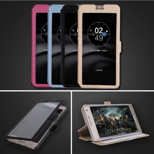 Custodia Flip cover per Nokia 1 2 3 5 6 7 8 9 X5 X6 2018 window cuoio magnetica