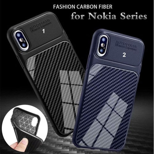 Custodia cover case per Nokia 1 2 3 5 6 7 8 9 silicone fibra paraurti parabordi