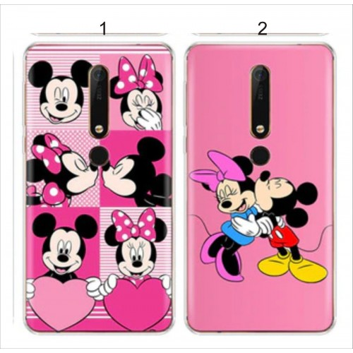 Custodia cover case per Nokia 1 2 3 5 6 7 8 X5 X6 cartoni silicon mickey minnie