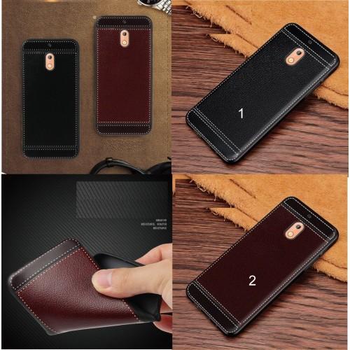 Custodia cover case per Nokia 1 2 3 5 6 7 X5 X6 2018 in silicone effetto pelle