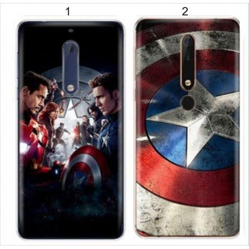 Custodia cover case per Nokia 2 3 5 6 7 8 9 2018 silicone captain america eroe