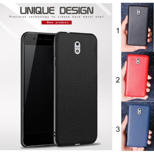Custodia cover case per Nokia 2 3 5 6 in silicone morbido effetto pelle Fashion