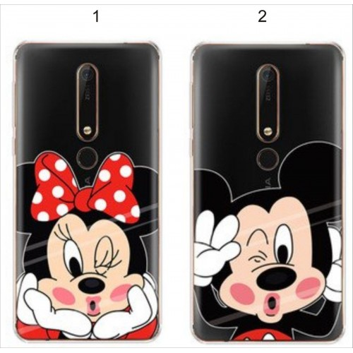 Custodia cover case silicone per Nokia 2 3 5 6 7 8 9 2018 mickey minnie disney