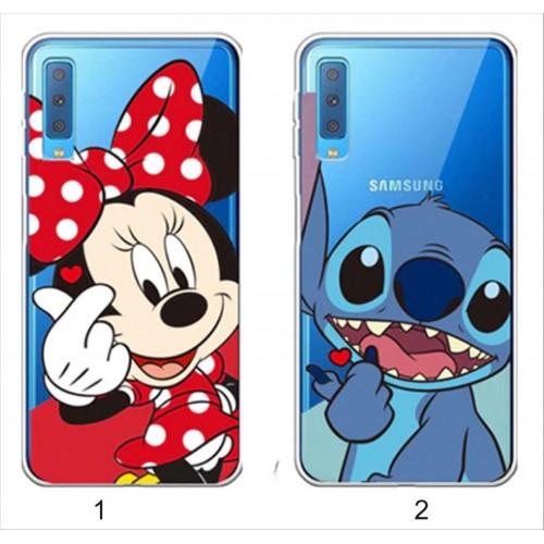Custodia cover minnie stitch per Samsung Galax S6 S7 S8 S9 A5 A6 A7 A8 A9 star