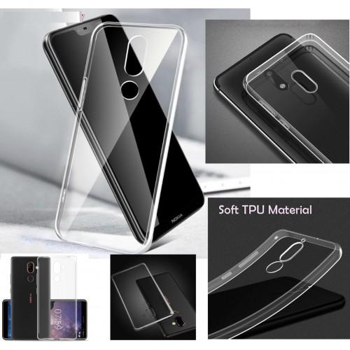 Custodia cover per Nokia 1 2 3 5 6 7 8 9 X6 X5 silicon antiscivolo con parabordi