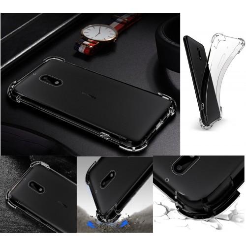 Custodia cover per Nokia 1 2 3 5 6 7 8 9 X6 silicone antiscivolo con parabordi