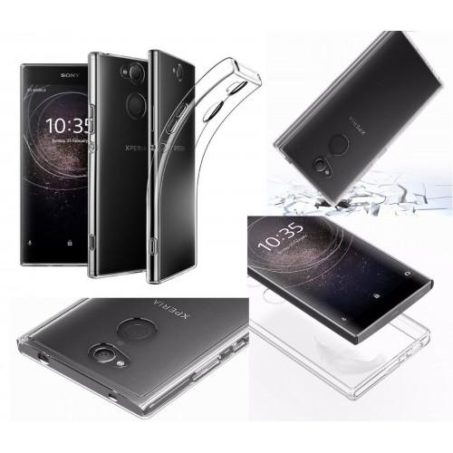 Custodia cover silicone antiurto antiscivolo per sony Xperia Xz2 Compact Premium