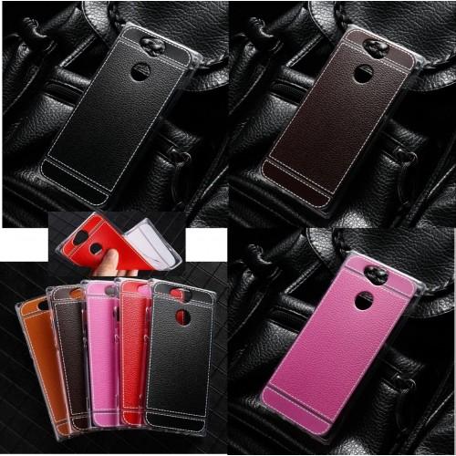 Custodia cover silicone antiurto effetto pelle sony Xperia Xz2 Compact Premium