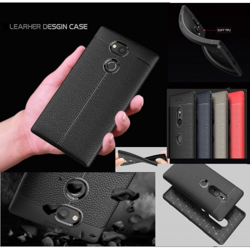 Custodia cover silicone fibra carbon antiurto sony Xperia XA1 XA2 Ultra Plus L2