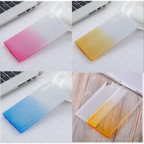Custodia cover silicone glitter antiurto per sony Xperia X Compact Performance