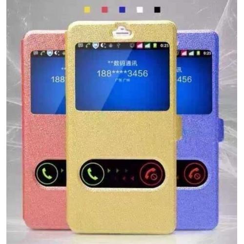 Custodia flip Cover case cuoio con windows fashion per Samsung Galaxy S7 G930