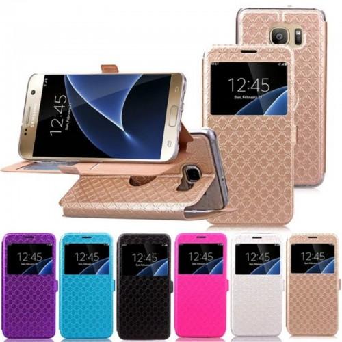 Custodia flip Cover case pelle magnetic window per Samsung Galaxy S7 G930 & Edge