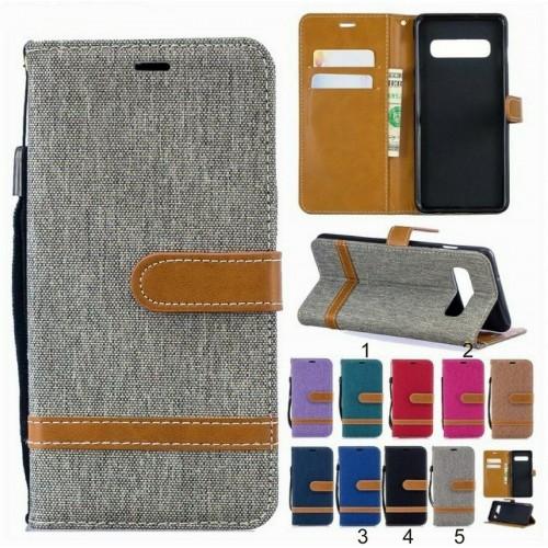 Custodia flip Cover magnetica cuoio protezione per Samsung S8 S9 S10 S10E Plus