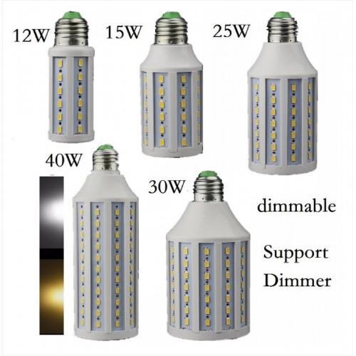 E27 E26 E14 B15 B22 15 20 30 40 50 60 watt LED 5730 Lampadina 110/220V dimmable