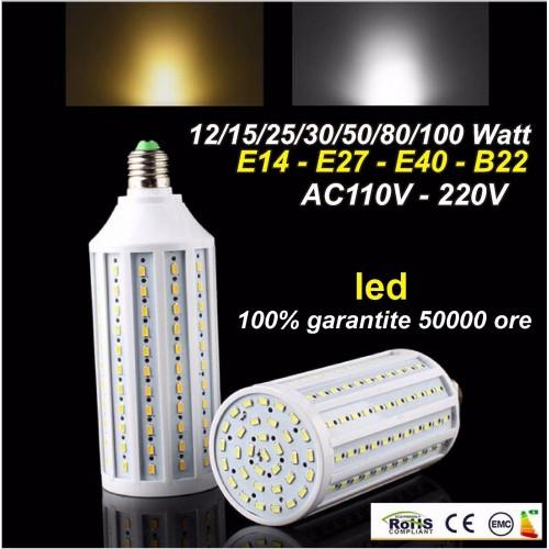 E27 E40 E14 B22  15 20 30 50 60 80 100 Watt LED 5730 SMD