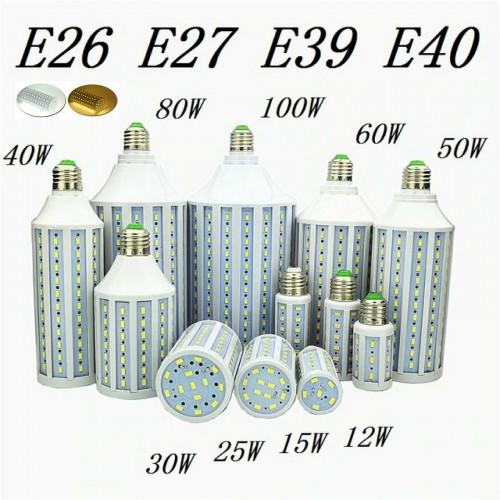 E27 E40 E26 E39- 15 20 30 50 60 80 100 watt LED 5730 SMD Lampada Lampadina 220V