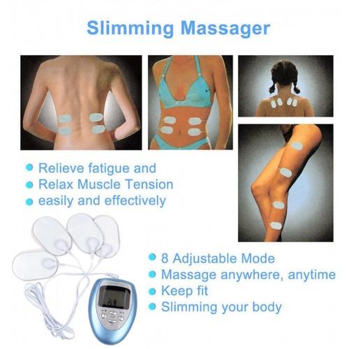 ELETTROSTIMOLATORE PER MUSCOLI ADDOMINALI massaggio seno fitness body building