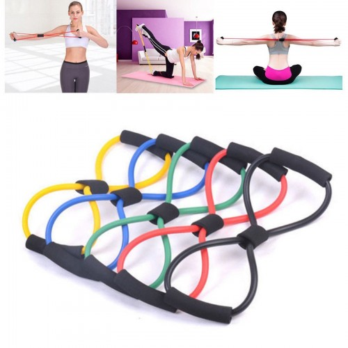Elastico Rubber Resistance in Lattice Band loop Yoga Fitness Exercise Training