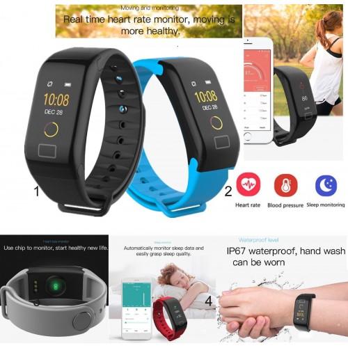 Fitness Tracker Pedometro Misura pressione sangue battiti Monitoraggio Sonno